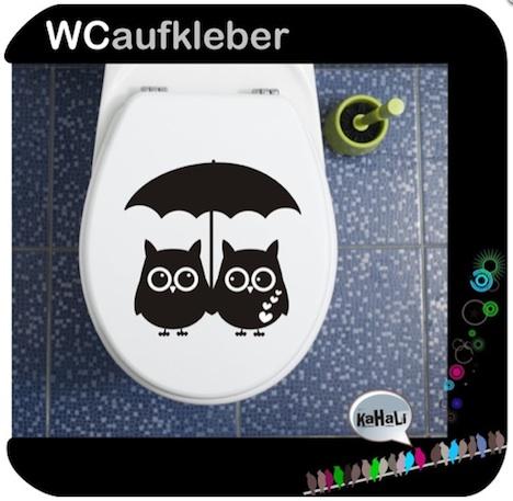 WC Aufklaber Wandkleberei Eulen