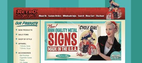 www.retroagogo.com Retro-a-go-go Onlineshop Homepage