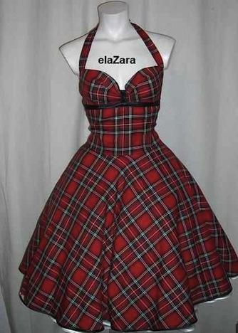 ElaZara Petticoatkleid Tartan Schottenkaro