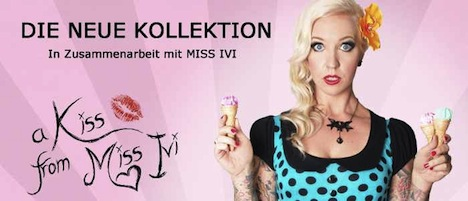 Miss Lovett A KISS FROM MISS IVI Kollektion Banner