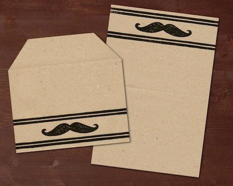 Mustache Briefpapier IM WOHNZIMMER