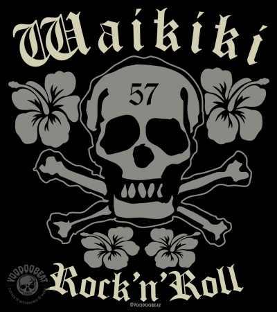 Voodoobeat Shirt Motiv Waikiki Skull Flower