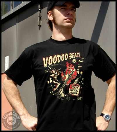 Voodoobeat Shirt Rocking Bones Vince Ray