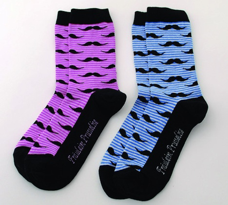 mustache Socken Fraeulein Prusselise