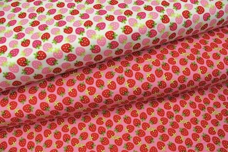 Alles-fuer-Selbermacher Erdbeer Stoff Riley Blake
