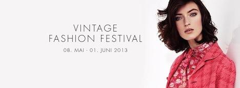 Flyer Vintage Fashion Festival Designer Outlet Berlin