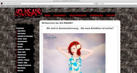 go.insane Rockabilly Stuff Onlineshop