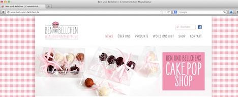 Ben und Bellchen Cake Pops Manufaktur Homepage Onlineshop