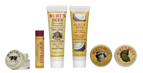 Burts Bees Tips n Toes Kit contents