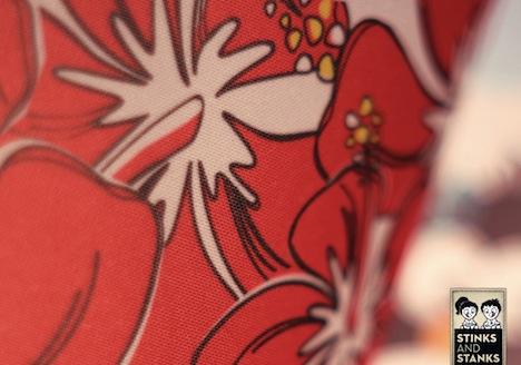 STINKSANDSTANKS  Lampen Muster Hibiscus