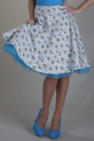 Candy Flower Telllerrock retro rock Setrino 1 Petticoatshop