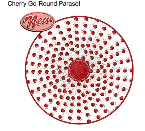 Cherry-Go-Round Retro-a-go-go! Parasol Sonnenschirm Kirschen Cherry