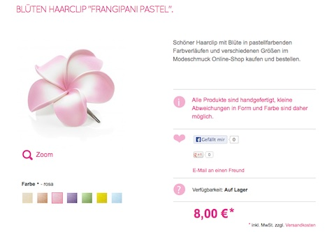 Dolly Martin Frangipani Bluete pastell