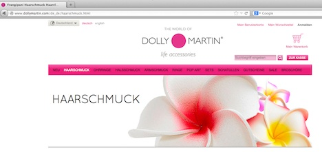 Dolly Martin Homepage www.dollymartin.com
