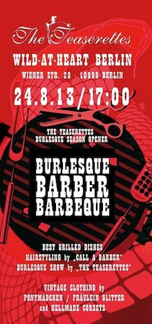 Flyer Burlesque Barber BBQ