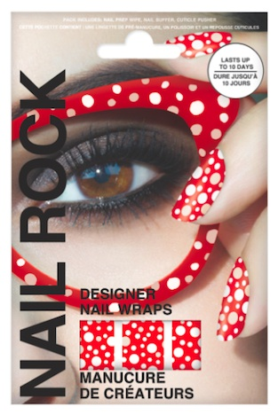 Nail Rock Polka Dots red rot