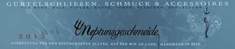 Neptungsgeschmeide Schmuck Label Banner