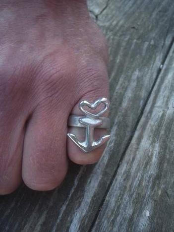 Neptunsgeschmeide Anker Ring Herz 1