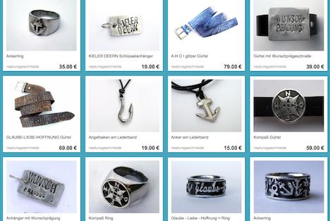 Neptunsgeschmeide Onlineshop DaWanda Shop