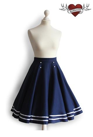 Rossknecht Modedesign Tellerrock Sailor Style
