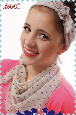 mydearlove Tuch Haarband Polka Dots