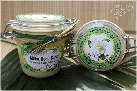 Eve Butterfly Soaps Aloha Body Scrub Gardenia