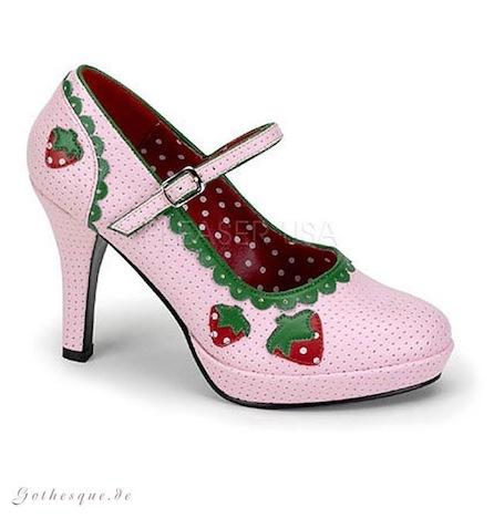 Gothesque Funtasma Shoes Pleaser USA Pumps High Heels Erdbeeren 2