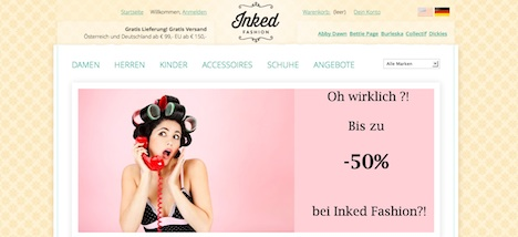 Inked Fashion www.inkedfashion.com Onlineshop
