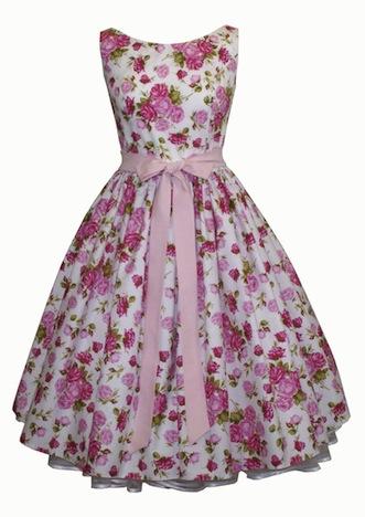 Petticoatkleid Rosen