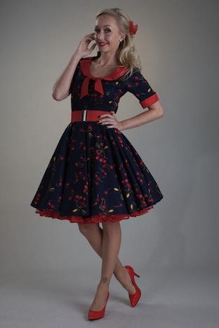 Petticoatshop Setrino Petticoat Kleid Kirschen Cherry