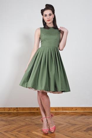 Yvonne Warmbier Petticoat Kleid gruen Florenz
