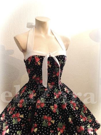 elaZara Petticoatkleid Erdbeeren