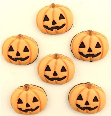 Halloween Kuerbis Pumpkin Knoepfe Buttons Vanice Buttons and Crafts