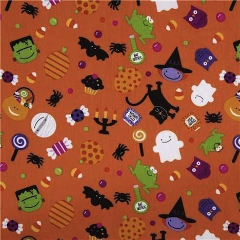 Halloween Stoff Riley Blake Kruemel-Design
