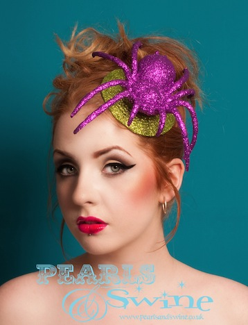 Pearls Swine Spider Glitter Headpiece