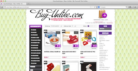 Buy Unlike Homepage Onlineshop