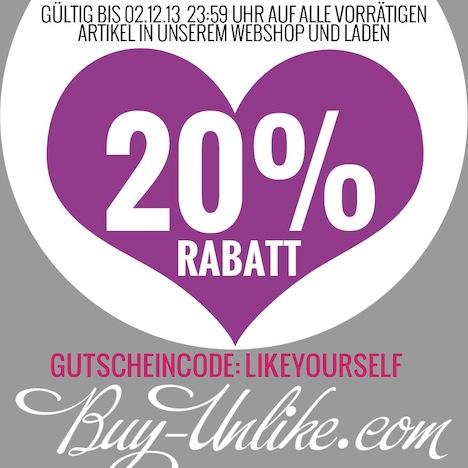 Buy Unlike Rabatt 20 Prozent