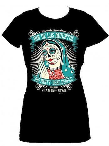 Flaming Star Dia de los muertos Shirt
