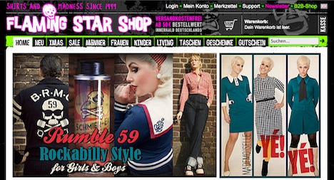 Flaming Star Shop Onlineshop