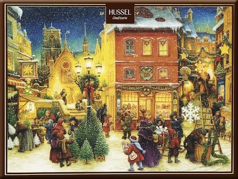 Hussel Confiserie Adventskalender Historischer Weihnachtsmarkt
