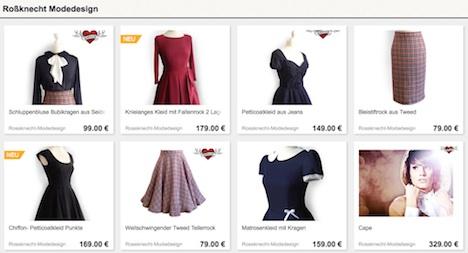 Rossknecht Modedesign DaWanda Shop Onlineshop