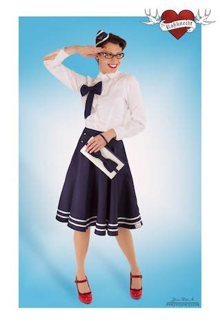 Rossknecht Modedesign Tellerrock Sailor Matrose 3