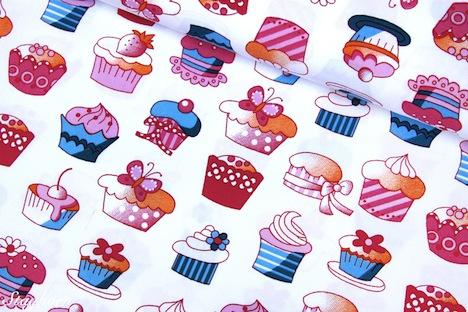 Staghorn Design  Stenzo Cupcakes Muffins Stoff