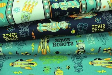 alles-fuer-selbermacher.de Space Robots Stoff