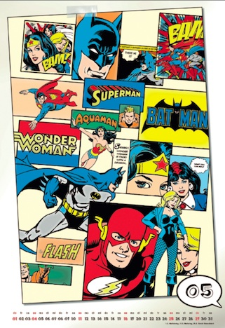 DC Comics Posterkalender 2014 Kalenderblatt
