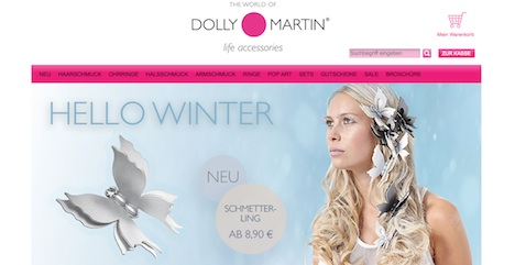 Dolly Martine Homepage Onlineshop http-::www.dollymartin.com