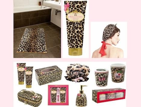 Leopard Look Produkte fuer das Badezimmer
