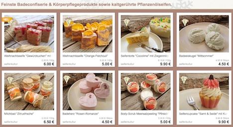 Seifenkultur Burgau Onlineshop DaWanda Dawanda-Shop