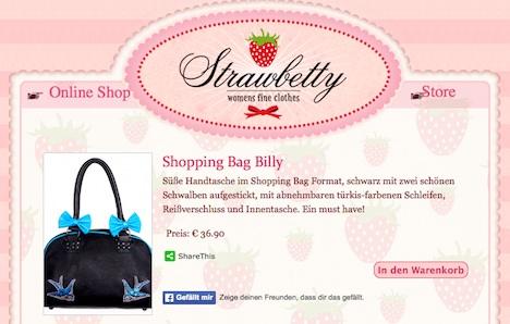 Strawbetty Onlineshop Tasche Banned