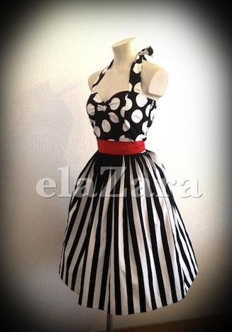 elaZara Kleid Streifen Punkte